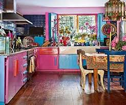 Bright Quirky Kitchen With Pink An This Fun Uses Colors To Create A Vibrant Look I Enjoy