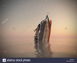 Cruise Ship Sinking Italy by Cruise Ship Sinking In The Sea Stock Photo Royalty Free Image