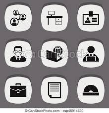icon bureau set of 9 editable bureau icons includes symbols such as