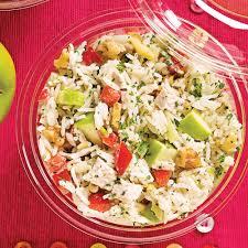 cuisine salade de riz salade de riz au poulet pommes et noix recettes cuisine et