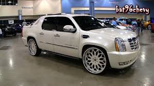 ALL WHITE Cadillac Escalade EXT On 28