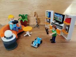 playmobil city 9267 wohnzimmer gebraucht mit ovp und