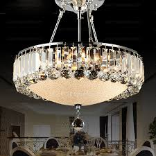Crystal Drum Shade Unique Chandeliers With Dining Room
