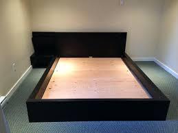 casana hudson king upholstered platform bed with panel night