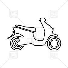 Motor Scooter Simple Outline 185252 Download Royalty Free Vector Image