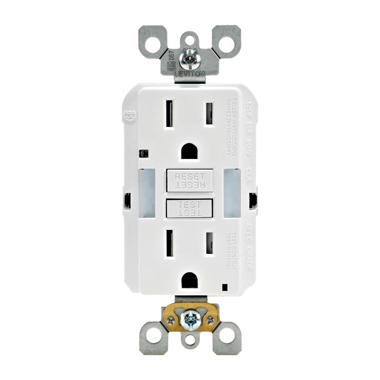 Leviton Outlet - White, 15A, 125V