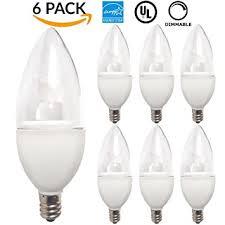 sunco lighting 6 pack led candelabra bulb 5 5watt 40w halogen