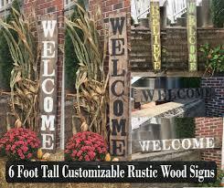 Spring Decor Rustic Outdoor Signs Decorations Garden