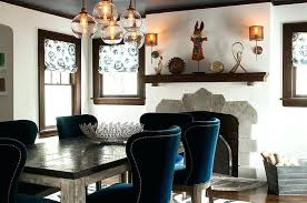 Blue Dining Room Chairs Painted Furniture Pertaining To Decorations 16