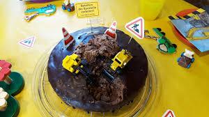 baustellen kuchen kindergeburtstag backen kindergeburtstag