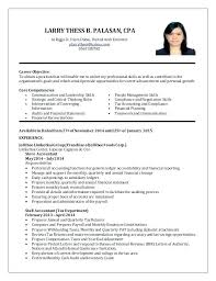 Resume Accounting Graduate Sample Student Download