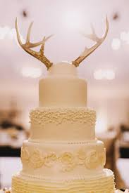 Simple Wedding Cake Toppers Antlers On Rustic