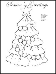 Christmas Color By Number Numbers Coloring Pages Easy