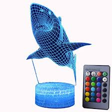 Amazoncom BESTOYARD 3D Lamp Visual Light Touch Switch Colorful
