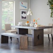Amazing Emmerson Reclaimed Wood Dining Table West Elm Intended For Gray Attractive