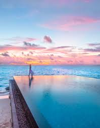 100 Maldives Infinity Pool Sunset Over The Infinity Pool At Fairmont PC