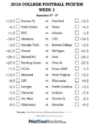 Football Pools Printable NFL NCAA fice Pools