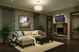 Classic Living Room Lighting L Shape Sofa With Fireplace