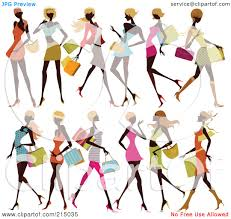 ladies shopping clip art u2013 clipart free download