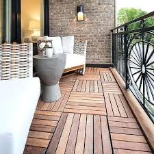 Balcony Flooring Oak Composite Tiles Waterproof