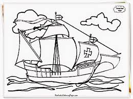 Christopher Columbus Coloring Page Day Pages Print Color Craft For Kids