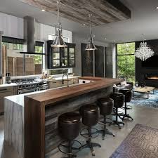 Large Industrial Open Concept Kitchen Photos