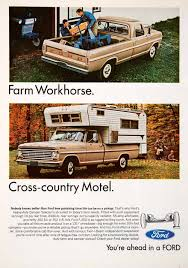 1967 Ad Ford Pickup Truck Camper Special Twin-I-Beam Camping Farming ...