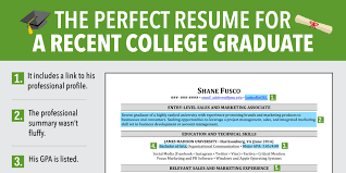 Excellent Resume For Recent Grad