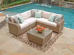 Deep Seated Sofa Sectional by Stylish Wicker Patio Sectional Outdoor Deep Seating Furniture