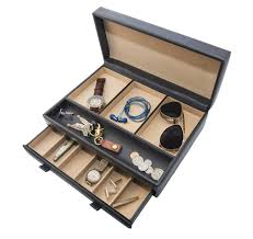 Dresser Valet Watch Box by Large Men U0027s Organizer 10 Compartment Valet Jewelry Watch Box