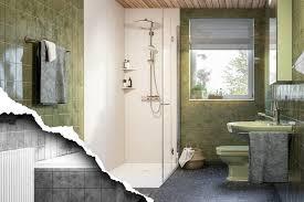 teilbadsanierung wanne raus dusche rein einfach zum
