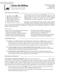 Information Technology Executive Resume Examples With Of Vice President Operations Premium For Make