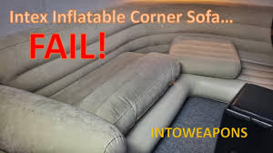Intex Inflatable Pull Out Sofa Bed by Intex Inflatable Corner Sofa 60 Day Review Failure Youtube