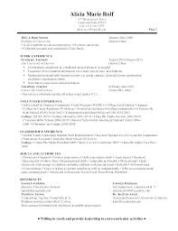 Sample Counselor Resume School Lesson Plan Template Adjustment Summer Camp
