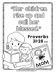 Mothers Day Bible Verse Coloring Page