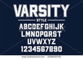 Classic College Font Vintage Sport In American Style For Football Baseball Or Basketball