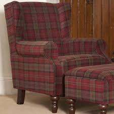 tartan wingback chair d23 in modern inspiration interior home