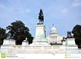 Ulysses S Grant Memorial In Front Of Capitol Washington DC Stock