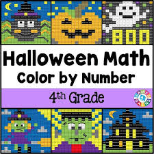 Halloween Math Multiplication Worksheets by Halloween Math Color By Number 4th Grade U2013 Games 4 Gains