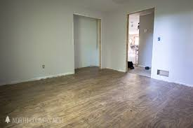 How To Install Plywood Flooring With Special Walnut Wood Stain
