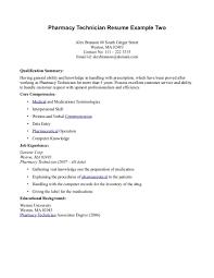 Resume Examples Pharmacy Technician For Study