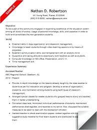 Resume Examples For Teachers Assistant Sample Biology Teacher India