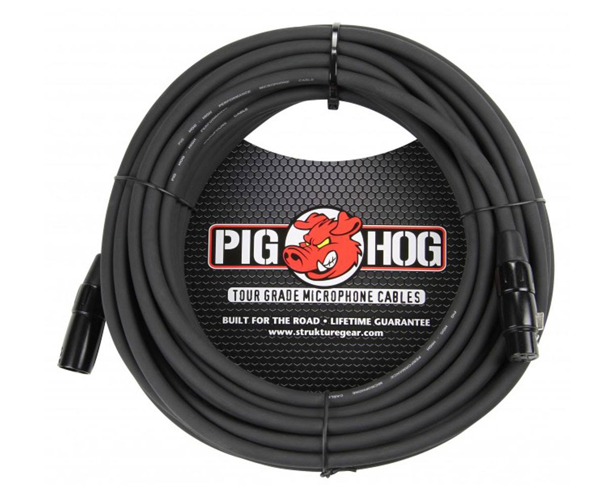 Pig Hog High Performance Xlr Microphone Cable - Black, 50'