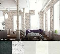 vlies steintapete weiß wohnzimmer steinoptik schwarz grau 3d schlafzimmer ebay