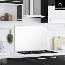 küchen glas spritzschutz 65 cm x 90 cm white splash guard