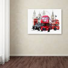 100 Studio 24 London 18 In X In Transport By The Macneil Printed Canvas Wall Art