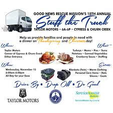 Good News Rescue Mission And Taylor Motors Host The 18th Annual ... Woman And Her Stuff Loaded On A Pickup Truck Stock Photo 5169033 A Nice Bit Of Fresh Air Bugz Stuff The Truck For Habitat Humanity On 911 Help With United Way Ups Doing Lookin Good While It Trucks First New 2017 Canyon All Terrain Edition Looking All Pretty East Bound Down Drive Aims To Full Of Dations New Service Uses Refighters Veterans Pickup Move Your Trailer Portion Stolen Nfl Production Covered Police Say Gta Funny Moments 50 Transformer Garbage Donors Toys Pin By John B Fleming Pinterest Dump