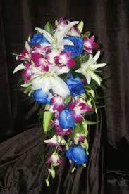 Tropical Cascading Wedding Bouquet