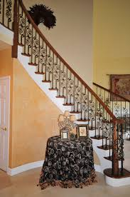 Stair: Stunning Staircase Design Ideas With Dark Brown Solid Wood ... Cool Stair Railings Simple Image Of White Oak Treads With Banister Colors Railing Stairs And Kitchen Design Model Staircase Wrought Iron Remodel From Handrail The Home Eclectic Modern Spindles Lowes Straight Black Runner Combine Stunning Staircases 61 Styles Ideas And Solutions Diy Network 47 Decoholic Architecture Inspiring Handrails For Beautiful Balusters Design Electoral7com