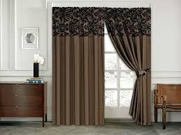 skippys vorhang ornament barock braun schoko gardinen mit kräuselband 2 vorhänge 167x183cm bxh gardine für wohnzimmer schlafzimmer 2er set